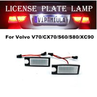 Wholesale volvo accessories for sale - Group buy License Plate LED Light For Volvo V70 CX70 S60 S80 XC90 White Color LED Light Auto Accessories For Volvo Size x30x19mm