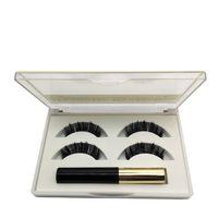 eye-liners naturels achat en gros de-Cils Magnétiques Eyeliner Liquide Set Magnétique Naturel Long Etanche Faux Cils Extension Maquillage Pour Les Yeux Outils RRA1068