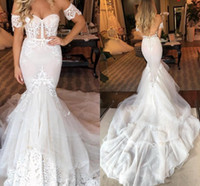 Wholesale sweet bridal gold dress for sale - Group buy Gorgeous Mermaid Wedding Dresses Sweet Heart Sweep Train Chapel Garden Country Bridal Gowns vestidos de novia abiti da sposa Customized