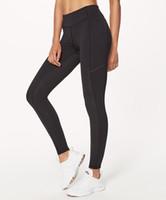 leggings de control al por mayor-Pantalón de yoga para mujer Pantalón de control abdominal suave Pantalones de yoga Cintura alta Prueba de sentadilla Polainas sin costura Capris Slim Fit Leggings