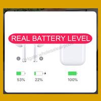 bluetooth kopfhörerbatterien großhandel-Neueste Air H1 Chip Animation Drahtlose Aufladung Ohrhörer Echte Batterieladung Bluetooth Kopfhörer pk Airpods W1 2 Pods