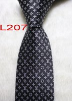 corbata corbata al por mayor-L207-16 Mens Classic Silk Polyester Designer Ties for Mens Brand Neckwear Business Skinny Grooms Necktie for Wedding Party Suit Shirt luxury