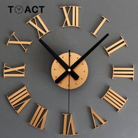 Wall Clock Large Size Wall Clocks Modern Design Sticker 3D DIY Big Watch Luxury For Living Room Home Decor Roman Numerals New Y200110