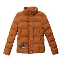 kapitone kısa ceket kadın toptan satış-2018 Ucuz Sonbahar Kış Palto Kadın Coat Ceketler Kadınlar Için Moda Kısa Parka Giyim Aşağı Kapitone Puffer Ceket Harajuku