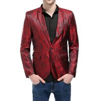 artı boyutu takılı kulübü elbiseleri toptan satış-Adisputent Erkek Pullu Blazer Sonbahar Rahat Tek Düğme Slim Fit Suit Blazers Erkek Parti Düğün Kulübü Elbise Artı Boyutu Suits