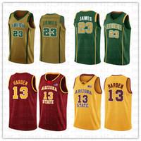 ed62b89e762 NCAA Irish High School LeBron 23 James Jersey Arizona State James 13 Harden College  Basketball Wears