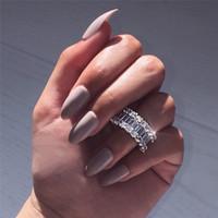 ingrosso anelli di nozze eternità donne-Sunset Boulevard Eternity Promise ring Anello in argento 925 con diamante per fidanzamento