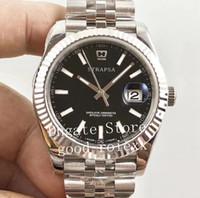 relógio jubileu venda por atacado-Top 41 MM AR Fábrica V2 Versão dos homens Relógio Automático 2824 Eta Relógios Pretos 904L Aço Jubileu Homens Pulseira 126334 Relógios De Pulso Datejust