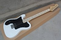 Wholesale quality left handed guitars resale online - Top quality Tl American Deluxe White Signature Black Pickguard Left handed Groove fretboard Electric Guitar
