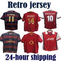 henry jersey venda por atacado-Arsenal  gunman 05 06 new Soccer Jerseys Retro Shirts PIRES HENRY V. Persie Fabregas Rosicky REYES VIEIRA BERGKAMP football
