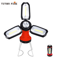 Wholesale rechargeable emergency lanterns resale online - LED Camping Lantern Flashlight LED COB Work Light Inspection Table Lamp Emergency Repair Rechargeable Foldable Light