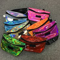 Wholesale Unisex Pink Laser Transparent Pink Fanny Pack Letter Waist Belt Bag Beach Travel Bags Waterproof Handbags Purses Outdoor Cosmetic Bag
