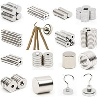 Wholesale n52 block magnets for sale - Group buy 1pcs N52 Mini Strong Magnet Neodymium Round Disc Square Block Rare Earth Magnet and Hook Fridge Magnets calamita