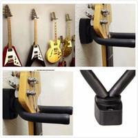 duvar için montaj braketi standı toptan satış-1 ADET Gitar Duvar Montaj Dirseği Askı Standı Kauçuk Köpük Yastıklı Kanca Dağı Tutucu