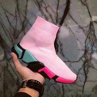 nuevas botas de velocidad al por mayor-2018 New Paris Luxury Sock Shoe Speed Runni Shoes Sneakers Speed Trainer Sock Race Runners Shoes hombre mujer Botas deportivas Envío gratis