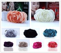 Wholesale evening champagne hand bag resale online - Ladies Floral Evening Bag Fashion Vintage Woman Rose Flower Chain Hand Bag Wedding Party Clutch Dinner Small Purse bolso