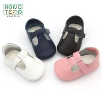 девочка твердым дном обувь оптовых-2019 New Baby shoes Genuine Leather First walkers Non-slip Hard bottom Toddler Baby moccasins girls Shoes