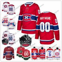 montreal fiyatı toptan satış-Özel Montreal Canadiens Kırmızı Beyaz Jersey Herhangi Numarası Adı erkek kadın gençlik çocuk Mavi # 13 Cole Caufield Domi 15 Kotkaniemi Danault Tatar Fiyat