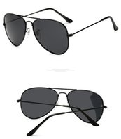 Wholesale purple reflective sunglasses resale online - Brand Polarized Pilot Sunglasses for Men women Male Driving glasses Reflective Coating Eyewear Oculos gafas de sol ray with box cases bans