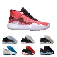 indirimli kadın basketbol ayakkabıları toptan satış-İndirimler KD 12 Kevin Durant XII EP Günü başlayan biri 90'lar Protro Yeşil Kamuflaj Womens Basketbol Ayakkabı 12s KD12 Sneakers