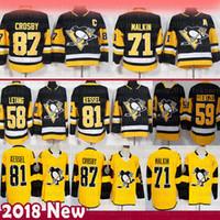 хоккей letang jersey оптовых-Pittsburgh Penguins 87 Sidney Crosby Hockey Jersey 58 Kris Letang 71 Евгений Малкин 72 Patric Hornqvist 81 Фил Кессел 59 Джейк Гюнцель