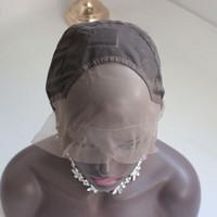 boné de peruca de tecelagem preto venda por atacado-1PC peruca cheia do laço bonés cor marrom cap Tecelagem peruca para as mulheres negras Tecelagem Cap peruca Hairnets transporte rápido