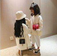 yeni moda çanta kore tarzı toptan satış-Bebek Ins Kore Style Zarif Yumuşak PU Messenger Çanta Yeni Geliş Kız Moda Klasik Fringe Çanta Çocuk Çantası
