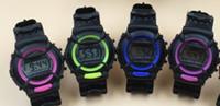 en iyi elektronik saatler toptan satış-Öğrenciler çocuklar SIYAH Spor İzle En Çok Satan Mükemmel Spor Moda Erkek Kız Elektronik Bilek Çocuklar İzle Hediye