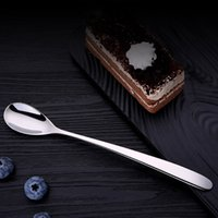 Wholesale reflections mirrors for sale - Group buy Stainless Steel Long Handle Heart Smooth Surface Spoons Cute heart Shape Creative Coffee Tea Bar Mirror Reflection Spoons DH0504 T03
