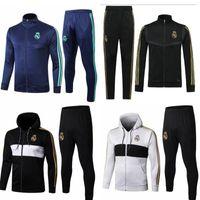 eşofman gerçek toptan satış-19 20 eşofman Marsilya Real Madrid futbol Eğitimi takım Real Madrid 2019 2020 MBAPPE LUCAS maillot de ayak ceket kiti eşofman