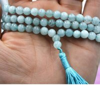 Wholesale buddhist jade online - mm stone Buddhist Natural new Prayer ds Mala Bracelet Necklace