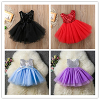 Wholesale gauze baby clothing for sale - Group buy Ins Ballet Baby Girls Sequins Princess Dresses Girl Tutu Gauze Dress Kid Backless Bowknots Dresses Summer Party Wear Wedding Clothes E22705