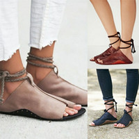 Wholesale sandals big bottoms resale online - Spring And Summer Fashion Sandals Ladies Big Code Flat Bottom Frenulum Shoes Anti Wear Simplicity Slipper New Arrival sd I1