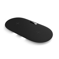nota mini usb al por mayor-Dual 7.5 / 10W USB Fast Qi Cargador inalámbrico Mini Disco de carga inalámbrico para iPhone X / 8/8 Plus Samsung S9 / S9 Plus / S8 / Note 8