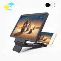 усилители оптовых-Экранная лупа 3D усилитель кино 3x зум увеличенный телефон стенд экран видео усилитель излучения глаз стол лупа
