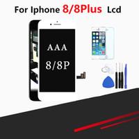 iphone cam değiştirme aracı toptan satış-IPhone 8 ve 8 için Artı Ekran Yedek Lens Pantalla Ile Ücretsiz Tool Kit Temper Cam