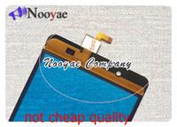 ogs ekranı toptan satış-Novaphopat BQ BQS-5515 Için Siyah OGS sensörü Dokunmatik Ekran Geniş BQS 5515 Dokunmatik Ekran Digitizer Ekran touchpad Değiştirme + parça
