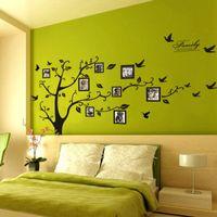 ingrosso murales eco friendly-Family Photo Frames Albero Wall Stickers Decorazione della casa Stickers murali Modern Art Murales for Living Room Frame Memory Wall Stickers