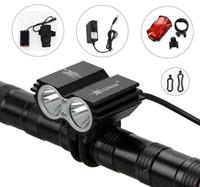 u2 pil toptan satış-SolarStorm 5000Lm 2x CREE XML U2 LED Ön Bisiklet Bisiklet Far Far Işık + Pil Paketi + Şarj + Kuyruk ışıkları