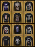 neue hahn-design groihandel-19SS Neue Mode-Design-Marke Vintage-Pullover aus 100% Baumwolle Design Männer Pullover Strass Tap Dance grau Plus Size 3XL lisy