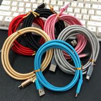 schnell r großhandel-AD 5,0 Dickes Kabel Schnellladetyp c Micro-USB-Kabel 1 m 2 m 3 m r geflochtenes Nylon-Legierungskabel für Samsung S6 S7 Edge S8 S9 HTC