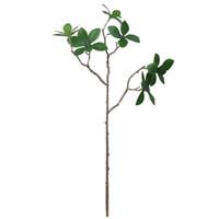 ingrosso piante di foglie piccole-Piante artificiali Plastica piccola 3- Forchetta Piante verdi a più foglie Simulazione Ornamenti decorativi Articoli per la casa