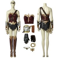 Wholesale xl wonder woman costume resale online - Wonder Woman Costume Wonder Woman Cosplay Diana Prince Full Set Soft Material