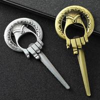 Wholesale game kitchen for sale - Group buy Game of Thrones Opener Metal Bottle Opener Antique Bronze Hand cane of the King Wine Beer Metal Alloy Kitchen Tools LJJA2564