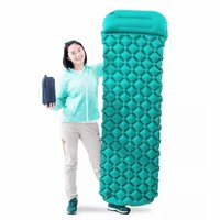 Wholesale inflatable cushions travel resale online - 2 person Air Moistureproof Camping Mats Inflatable Cushion Outdoor Picnic Beach Plaid Blanket Home Rest Soft Bed Travel Mats