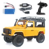 erkek çocuk oyuncakları kamyonlar toptan satış-1:12 Ölçekli RTR Sürüm RC Araba 2.4G 4WD MN-90K MN-91K RC Kaya Paletli D90 Defender Pikap Uzaktan Kumanda Kamyon Oyuncaklar için Boy hediyeler
