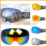 Wholesale anti fog motocross goggles resale online - 2019 Winter Snow Ski Goggles Double Layers UV400 Anti Fog Big Ski Mask Glasses Eyewear Skiing Motocross Men Women Sports Snowboard Goggles