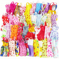 Wholesale chinese mixed clothes online - 10 Mix Sorts Beautiful Handmade Party Dress Fashion Clothes Best Gift Kids Toys for Barbie Doll Accessories