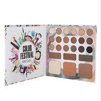 ingrosso tavolozza ombra sopracciglia-Eyeshadow Palette trucco Set ricco di colori degli occhi Polvere sopracciglio di ombra e Face Powder Highlighter 24 colori In It