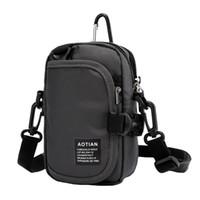 Wholesale pouch belt strap resale online - 2019 Multi layer Crossbody Bag Cell Phone Purse Wallet Belt Buckle Pouch Shoulder Strap For Women Men